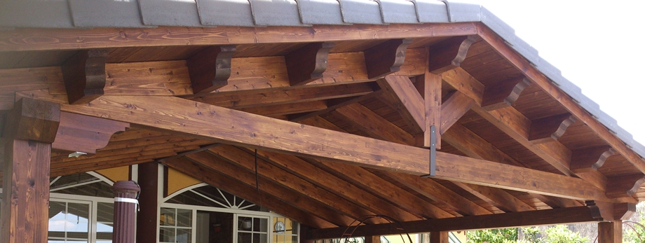 Tejados de madera cubiertas madrid - Estructuras de madera para tejados ...